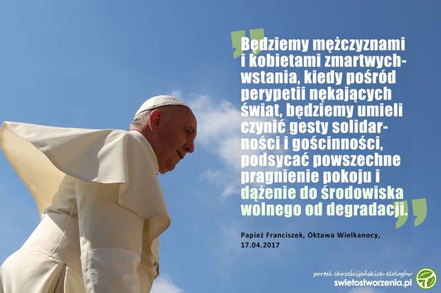 10 Ważnych Eko Cytatów Papieża W 2017 święto Stworzenia Portal
